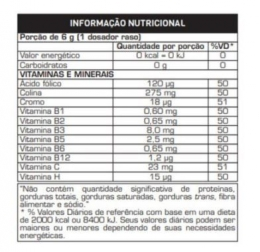 2HOT (200g) Limao - TABELA