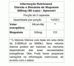 Cloreto e Dimalato de Magnésio 600mg (90 caps)